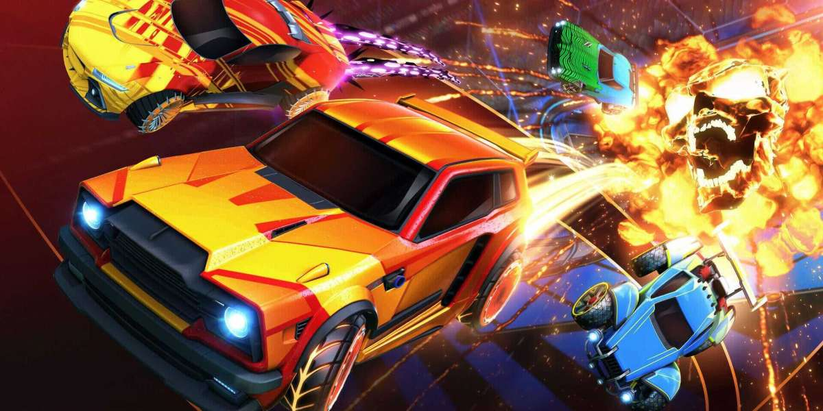 In Rocket League rocket-powered automobiles play a sort of hockey-soccer